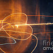 Abstract Light Streaks Poster