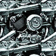 Abstract Motor Bike - Doc Braham - All Rights Reserved Poster
