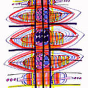 Abstract Pen Drawing Fifty Poster