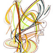 Abstract Pen Drawing Fifty-nine Poster