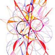 Abstract Pen Drawing Fifty-one Poster