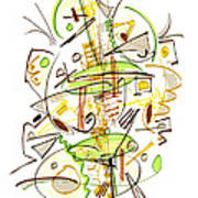 Abstract Pen Drawing Fifty-seven Poster