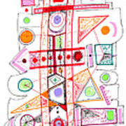 Abstract Pen Drawing Fifty-two Poster