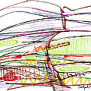 Abstract Pen Drawing Forty-five Poster