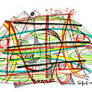 Abstract Pen Drawing Forty-seven Poster