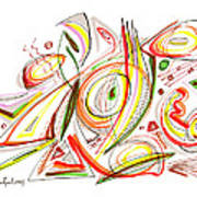 Abstract Pen Drawing Forty-six Poster