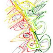 Abstract Pen Drawing Seventy-one Poster