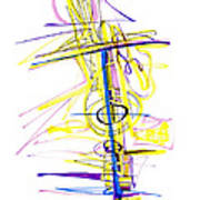 Abstract Pen Drawing Seventy-two Poster