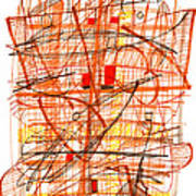 Abstract Pen Drawing Sixty-one Poster