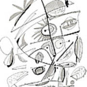 Abstract Pen Drawing Sixty-seven Poster
