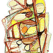 Abstract Pen Drawing Sixty-three Poster