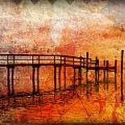 Abstract Pier Poster