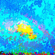 Abstract Rainbow And Clouds Poster
