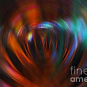 Abstract Red And Green Blur Poster