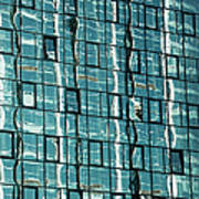 Abstract Reflections In Windows Poster