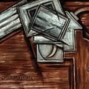 Tommervik Cubism Hand Gun Art Poster