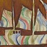 Abstract Sailboat Poster