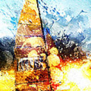 Abstract Sailing Poster