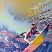 Abstract Surf Poster