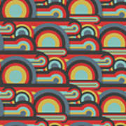 Abstract Textile Seamless Pattern Of Poster