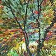 Abstract Tree Poster