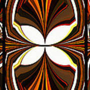 Abstract Triptych - Brown - Orange Poster