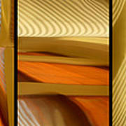 Abstract Triptych - Omaha Library Building Poster
