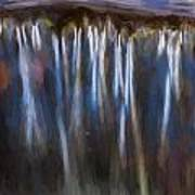 Abstract Waterfalls Childs National Park Painted  Poster