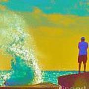 Abstract Wave Crash Poster