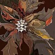 Abstract Whispering Leaves Poster