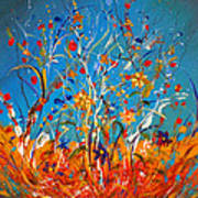 Abstract Wildflowers Poster