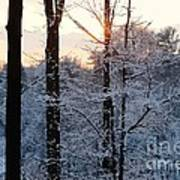 Abstract Winter Sunset Poster
