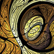 Abstract Wood Grain Poster