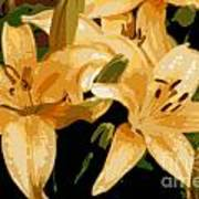Abstract Yellow Asiatic Lily - 1 Poster