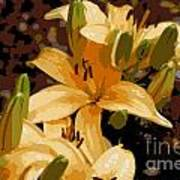 Abstract Yellow Asiatic Lily - 2 Poster