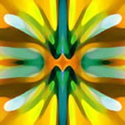 Abstract Yellowtree Symmetry Poster by Amy Vangsgard