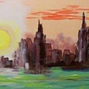Abstracted Ny Skyline Poster