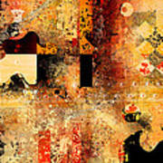 Abstracture - 103106046f Poster by Variance Collections