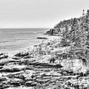 Acadia National Park In Bw Poster