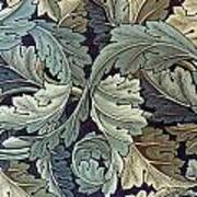 Acanthus Leaf Design Poster by William Morris