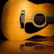 Acoustic Guitar Reflected Poster