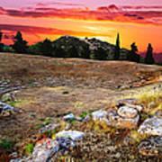 Acropolis Of Eretria  Poster