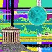 Acropolis Plaid Poster