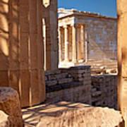 Acropolis Temple Poster