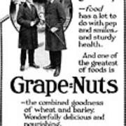 Ad Grape Nuts, 1919 Poster