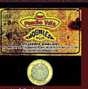 Ad  Pancho Villa Bar  Nogales Sonora Mexico 2013  Poster