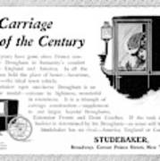 Ad Studebaker Carriages Poster