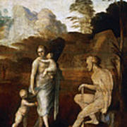 Adam And Eve With Cain And Abel Poster
