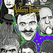 Addams Family Portrait Poster by Gary Niles
