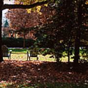 Adirondack Chairs-3 - Davidson College Poster